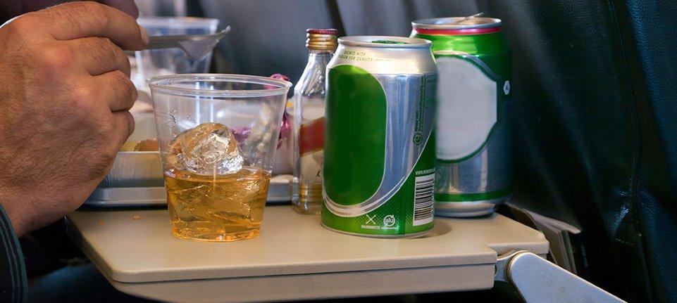drinking on plane