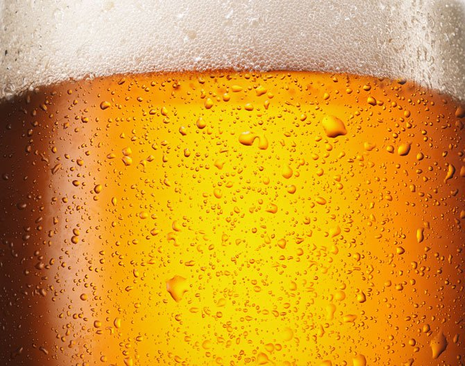 Close shot beer glass with beer