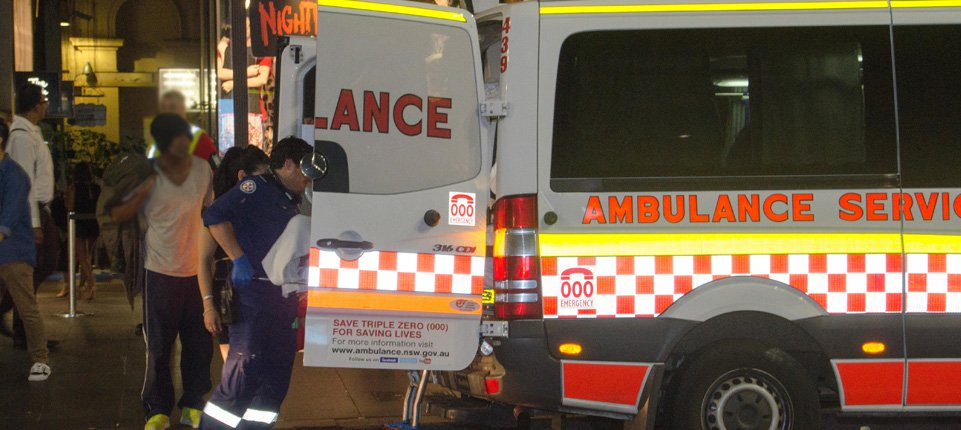 patient loaded into ambulance
