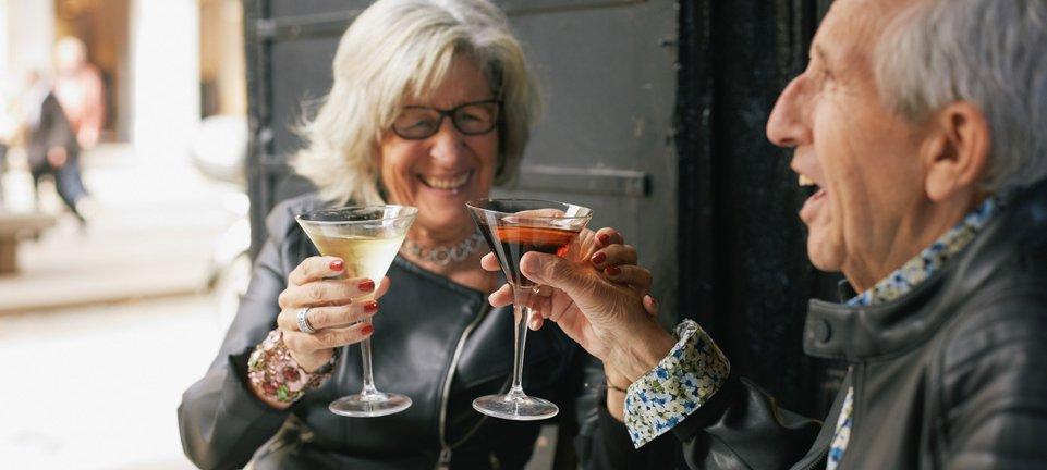 older couple drinking