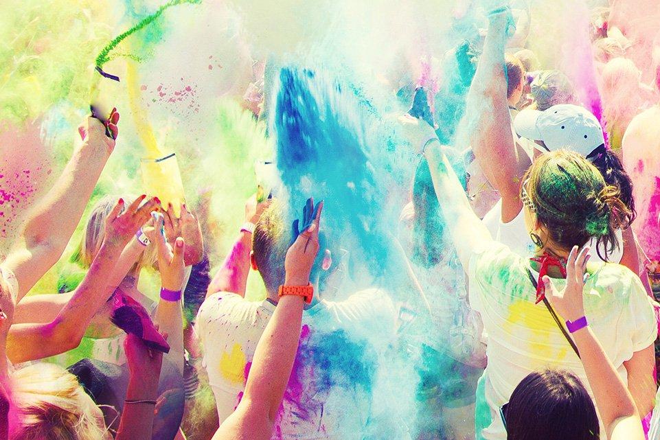 Crowd at colour festival