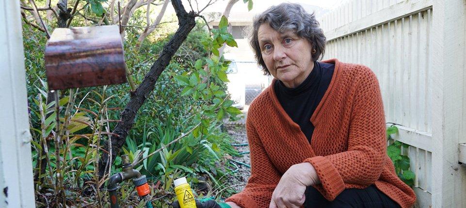 woman in richmond garden