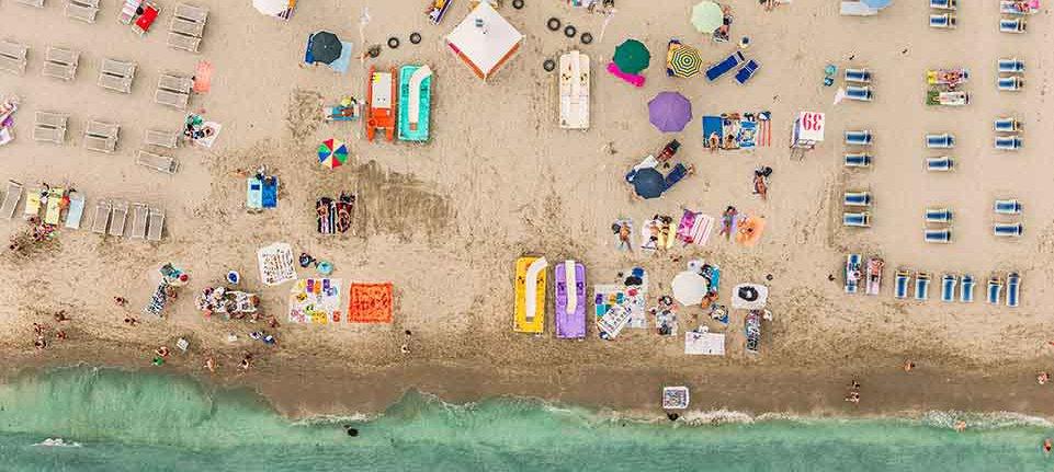 aerial view beach