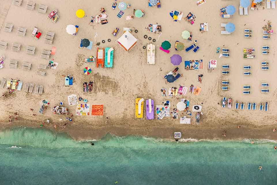 Aerial view beach 01